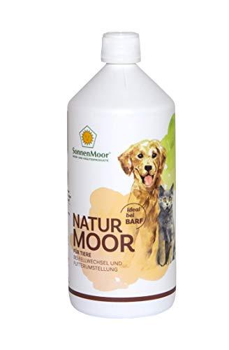 SONNENMOOR Naturmoor für Tiere - zur Unterstützung der Verdauung und der Abwehrkräfte bei Fellwechsel und Futterumstellung für Haus-und Heimtiere 1000 ml