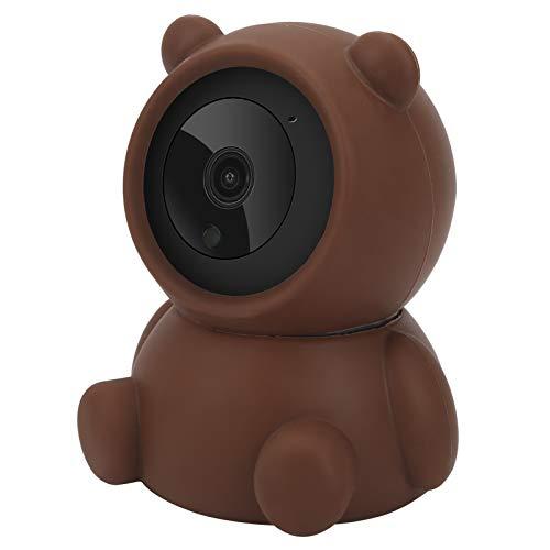 Cámara WiFi, cámara de seguridad, diseño de oso pardo de visión nocturna para el hogar de la tienda(European regulations)