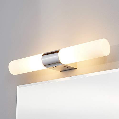 Lindby Wandleuchte, Wandlampe Bad 'Ziva' dimmbar (spritzwassergeschützt) (Modern) in Chrom aus Metall u.a. für Badezimmer (2 flammig, E14, A++) - Wandleuchten, Spiegelleuchte Badezimmer