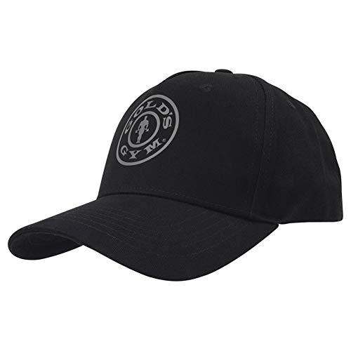 Golds Gym Gold's Gym Gghat096 Embroidered Text Curved Peak Cap, Black, One Size Gorra de béisbol, Negro, UN Tamaño Unisex Adulto