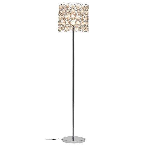[lux.pro] Lámpara de pie 'CrystalTree' - bombilla excluida - E27 / 60 W / 230 V - chromo (155cm - 34 cm)