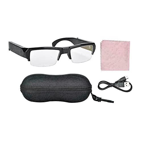 Gafas inteligentes, HD Micro de micro gafas Cámara 1080P Ciclismo adulto Deporte Grabador de video con mini cámara digital Camcorder Support Tarjeta SD ( Bundle : With 64GB SD Card , Color : Black )