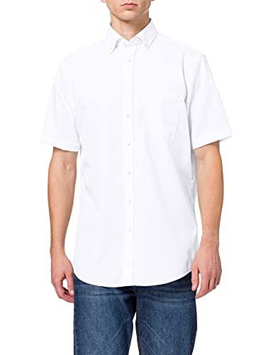 Seidensticker Herren Business Hemd Modern Fit, Weiß (weiß 01), 44