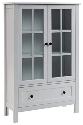 """Signature Design by Ashley Miranda Accent Cabinet, 32"""" W x 12"""" D x 47"""" H, White"""