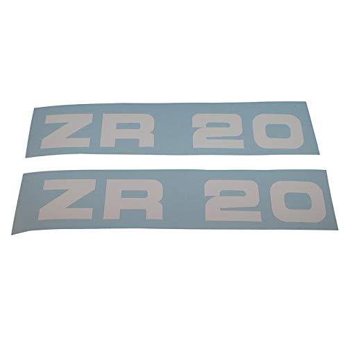 Zündapp ZR 20 Schriftzug Trittbrett Aufkleber, Ersatzteil Sticker Verkleidungs Schriftzug Dekor. Zum Oldtimer Restaurieren von Lack und Verkleidung. Alternativ zum Motorrad Emblem