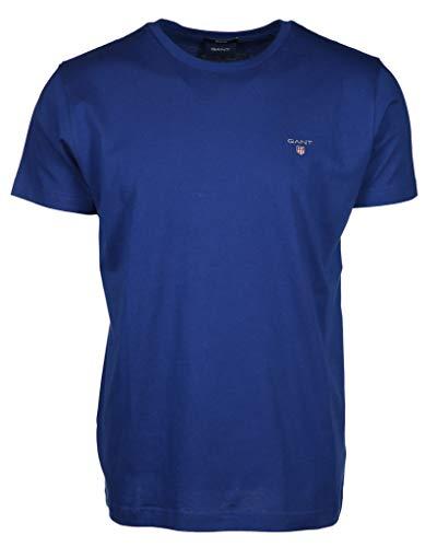 GANT Herren The ORIGINAL SS T-Shirt, Crisp Blue, XL