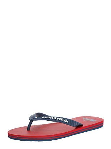 Quiksilver Molokai, Zapatos de Playa y Piscina Hombre, Multicolor (Red/Blue/Red Xrbr), 43 EU