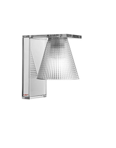 Kartell Light-Air, Wandleuchte mit Prägung, Glasklar