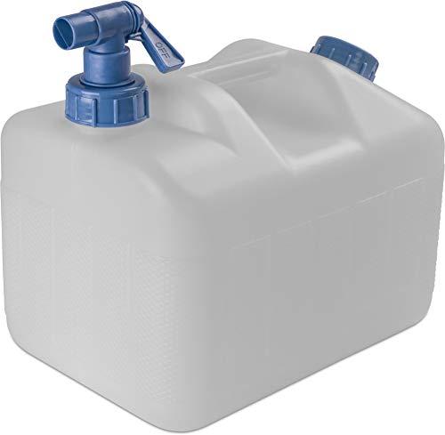 normani Wasserkanister Wassertank Trinkwasserbehälter Camping-Kanister mit Hahn und Deckel 10 Liter bis 23 Liter - HD-PE lebensmittelecht, geschmacks- und geruchsneutral Farbe 10 Liter