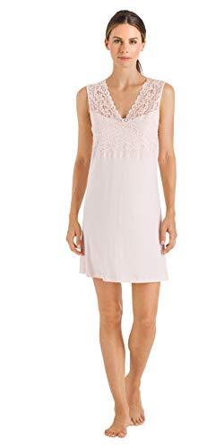 Hanro Damen Moments Nw O.Arm 90 cm Nachthemd, Rosa (Crystal Pink 071334), 44 (Herstellergröße: M)