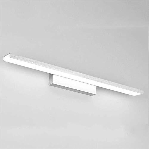QIQIZHANG Lámpara de Pared Retro Aplique, Luces de Espejo LED Cuarto de baño Estilo Moderno Pintura Simple Pintura Lámpara Creatividad Aluminio Lámparas de Pared Iluminación, Oro, 41CMWhite