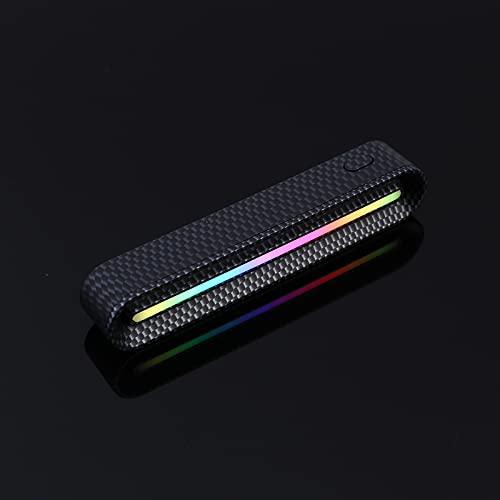 Fuaensm RGB - Luce ritmica attivata vocale, ricaricabile, con 3 modalità, 7 colori che cambiano il livello musicale per veicoli, ricreazione, luce atmosferica