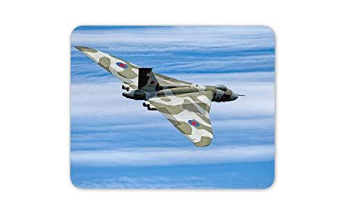 Alfombrilla Raton Doble Alfombrilla para ratón Vulcan Bomber Air Force - Delta Wing RAF Cool Alfombra Ratón 25 X 30CM