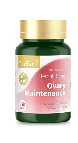 GinSen Ovary Maintenance Helps with PCOS, Ovulation, Eggs Quality & Quantity, Conceive Naturally, Natural Pregnant, Natural Supplement, Chinese Medicine, Made in UK (150 Capsules)