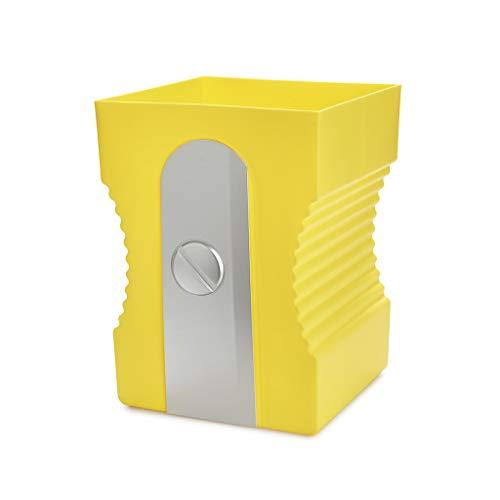 Balvi Papelera Sharpener Color Amarillo Papelera con Forma de sacapuntas Plastico ABS/PP 29cm
