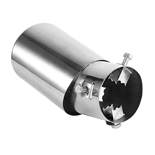 Endrohr-Auspuff, 1 Stk. Universal Chrom hinten, runder Edelstahl, Auto-Auspuff, Endrohr, Auspuffspitze