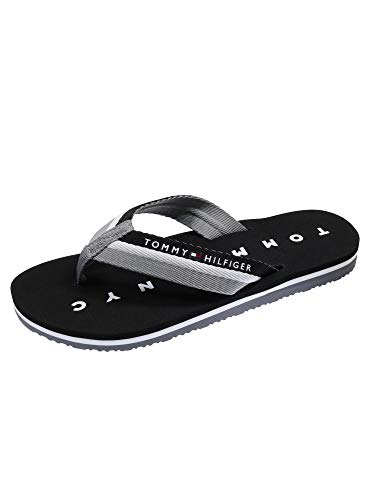 Tommy Hilfiger Tommy Loves NY Beach Sandal, Chanclas Mujer, Negro...