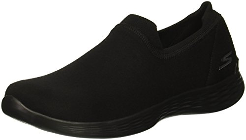 Skechers Women's You Define Perfection Slip On Trainers, Black (Black BBK), 5 (38 EU)