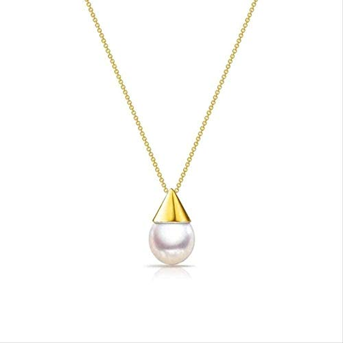 LKLFC Necklace Women Necklace Men Necklace Temperament Natural Pearl 925 Jewelry Small Bulb Shell Beads Clavicle Chain Necklaces 45Cm with Chain Pendant Necklace Girls Boys Gift