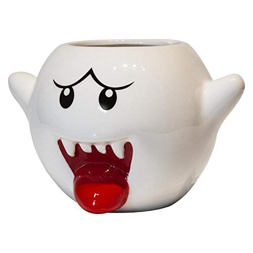 Tangmein Super Mario Ghost Mug 400 Ml Kreative Cartoon Keramik Weiße Milch Kaffeetassen Teetasse Kind Kinder Geburtstage Geschenk-1_200-300 Ml