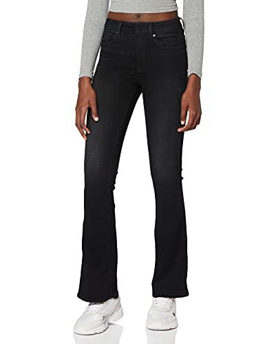 G-STAR RAW 3301 High Waist Flare Vaqueros, Jet Black B472-A814, 25W / 30L para Mujer