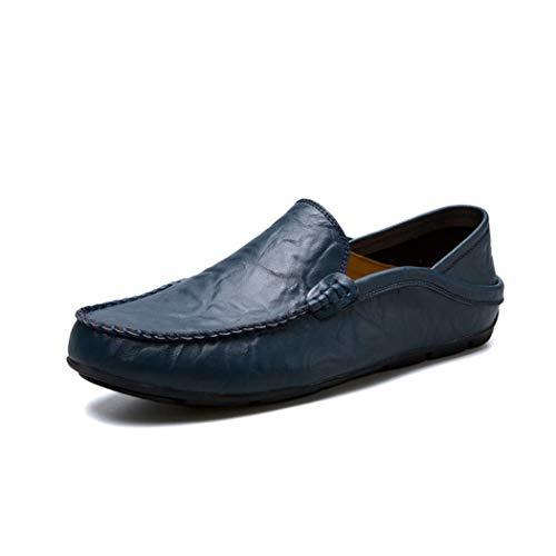 MALPYQ heren leer leer Lazy Peas schoenen heren bootschoenen platte onderkant één voet buitenhandel grote lok schoen
