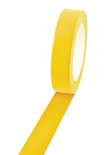 """Champion Sports Vinyl Tape, 1"""" Wide x 60 Yards Long, Yellow - Durable Floor Marking Tape for Social Distancing, School, Gyms, Restaurants - Tough Floor Tape for Heavy Foot Traffic and Equipment"""