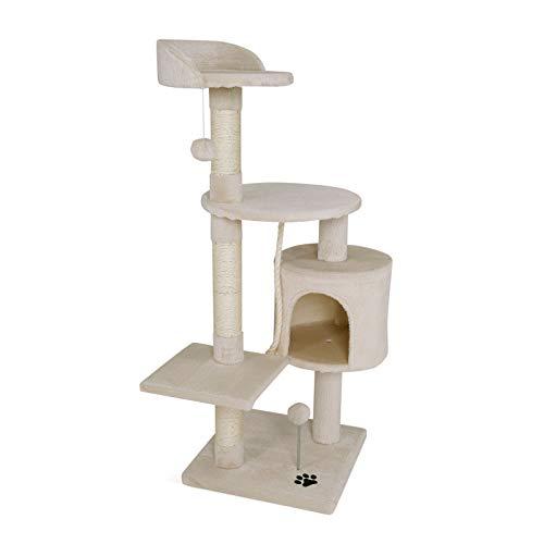 lionto by dibea Arbre à chat arbre à grimper griffoir pour chat hauteur 112 cm Beige
