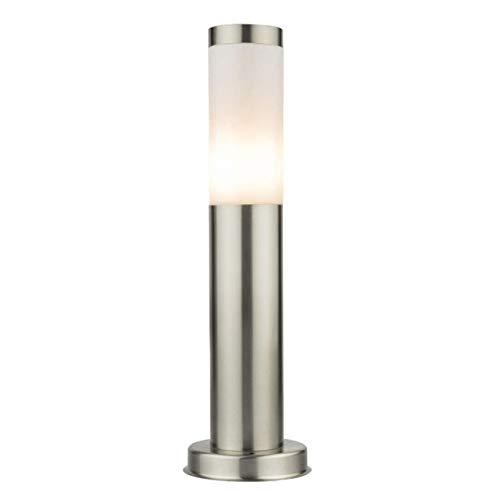LED Standleuchte 45cm Pollerleuchte Wegleuchte Sockelleuchte Gartenleuchte/Außenleuchte Edelstahl S10 IP44 E27-230V Inkl. LED-Leuchtmittel Warmweiß