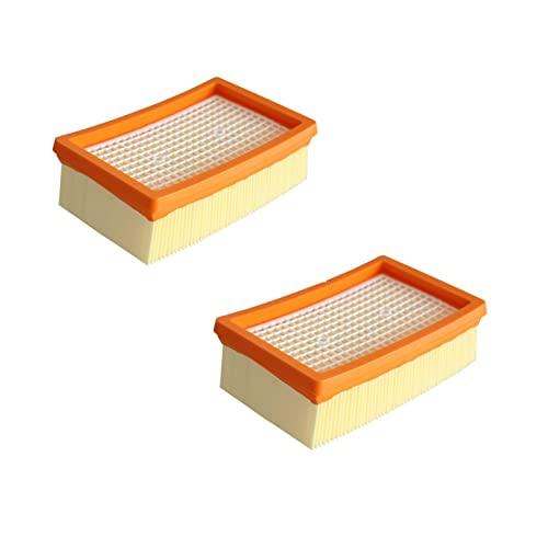 Yanluo 2pcs / Lote Filtro Compatible con Karcher MV4 MV5 MV6 WD4 WD5 WD6 Limpiador Mojado y dryvacuum # 2.863-005.0 Piezas de filtros Usually