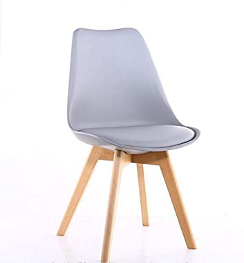 Bigbanana Set of 4 Dining Chairs Modern DSW Chair Indoor Armless Side Chairs with Soft Padded and Solid Legs Ideal for Dining