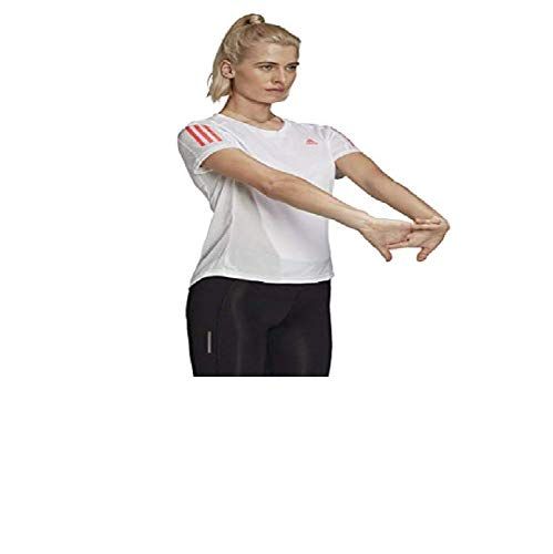 adidas Own The Run Camiseta, Blanco/Rosa, XXS para Mujer