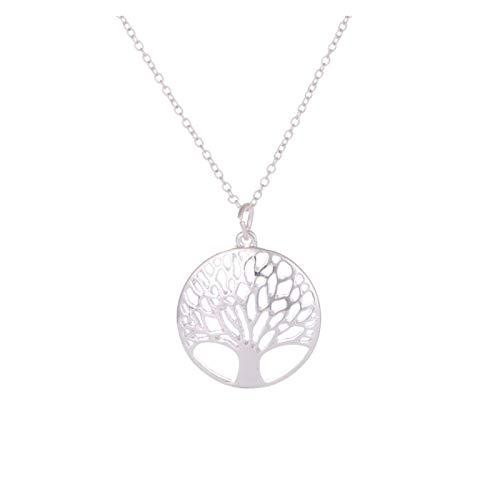 ZCPCS Redondo Hollow Deseando árbol Anillo de Oreja Enlace Pulsera Stealth Jewelry Set Ornament (Color : B)