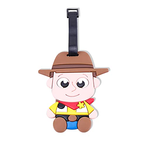 Disney Toy Story Woody - Etichette identificative per bagagli, con cinghia da cintura, motivo Woody