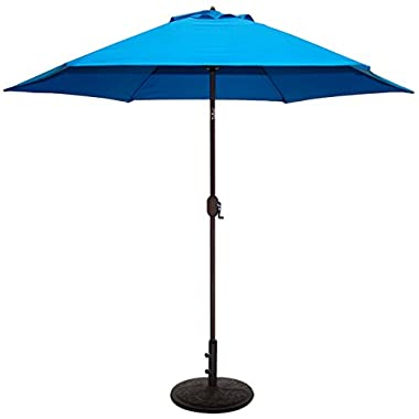 Tropishade 9 ft Patio Umbrella Bronze Aluminum Frame with Royal Blue Polyester Cover