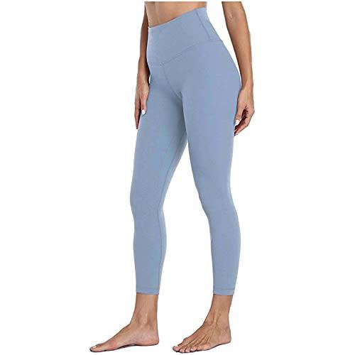Shape Leggings Damen Sporthose Blickdichte Trainingshose Yogahose Sportleggins für Fitness Sport Freizeitc Damen High Waist Solid Color Skinny Fitness Yogahose Nude Hidden Yoga Pants
