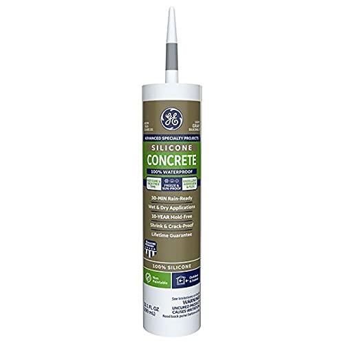 GE Advanced Light Gray Silicone 2 Concrete and Masonry Caulk Sealant 10.1 oz.