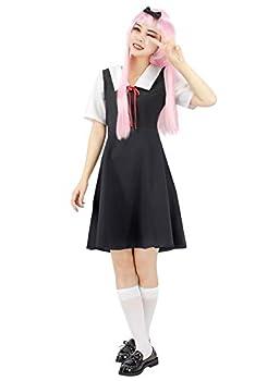 C-ZOFEK Japanese Anime Shinomiya Kaguya Fujiwara Chika Cosplay School Uniform Dress  XXX-Large Short sleeve