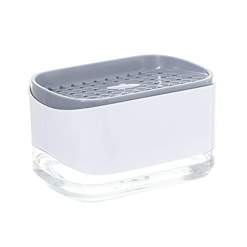 Dispensador de Jabón Fregadero de cocina Lavavajillas de gran capacidad Botella de jabón de caja de líquido con soporte de esponja Dispensador de jabón líquido Tipo de apriete Dispensador de jabón Dos