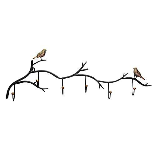 Chifans Perchero de Hierro para Puerta, diseño de pájaro, Gancho Simple para Chaquetas, Toallas, Sombreros, Hecho de Metal
