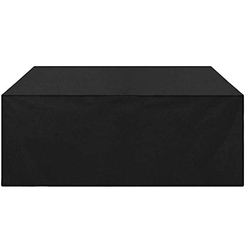 Yulian Garden Furniture Funds 200x140x90cm, Terraza Cubierta de Muebles Conjunto Impermeable, Terraza Mesa Mesa y Sillas Combinación Tela Impermeable Oxford Pesado, Anti-Polvo, Negro