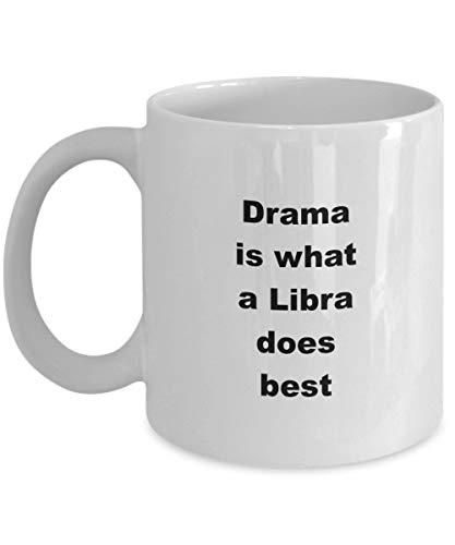Weegschaal koffiemok Drama is wat een Weegschaal doet beste 11 oz keramische koffiemok