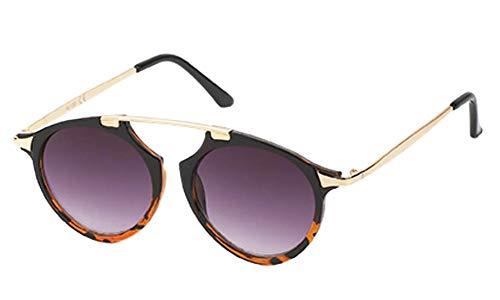 Chic-Net Sonnenbrille Retro Vintage Panto Brille 400 UV Metall Zwicker Form Bügel lila