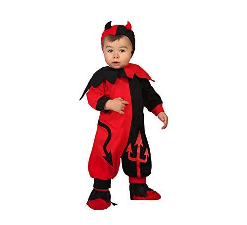 Atosa-61196 Atosa-61196-Costume travestimento da demone, per ragazzo, 61196, rosso + 24 mesi