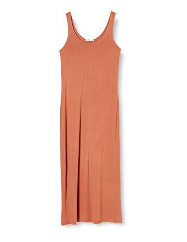 PIECES Pckalli Maxi Tank Dress Noos Vestido Informal, Marrón Cobrizo, XS para Mujer