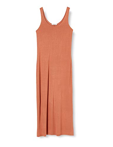 PIECES Damen PCKALLI Maxi Tank Dress NOOS Lässiges Kleid, Copper Brown, L