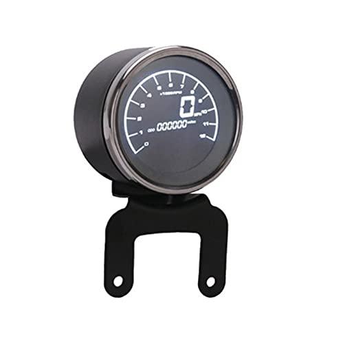 Strumento per moto Multi-funzionale dei calibri Instruments Moto Contachilometri Digital Contagiri Tachimetro Livello del carburante Speed Meter Indicatore LED Round 12000RPM