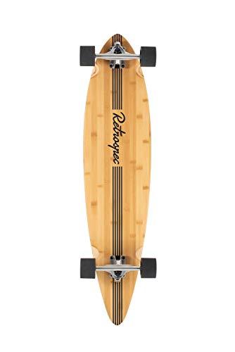 Retrospec Zed Longboard Pintail Bamboo Long Board Skateboard Cruiser Black Pipeline, One Size
