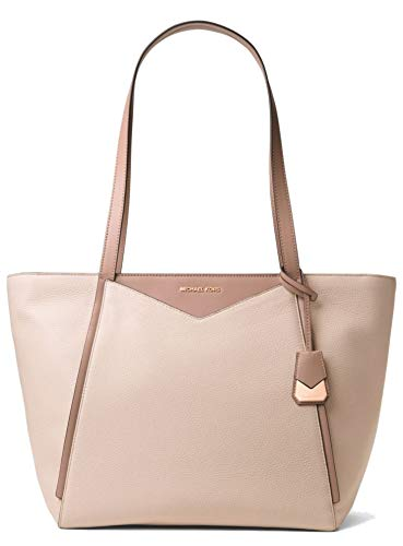 Whitney: an everyday, everywhere bag crafted from pebbled leather with smooth, contrasting trim. Understated hardware nods to a refined sensibility, while a spacious interior can accommodate a laptop or extra pair of shoes. Crafted with Soft Pink Col...