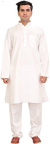 Exotic India Pure White Kurta Pajama Size 38